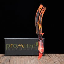 HOWL FLAME HANDLE  Butterfly Knife