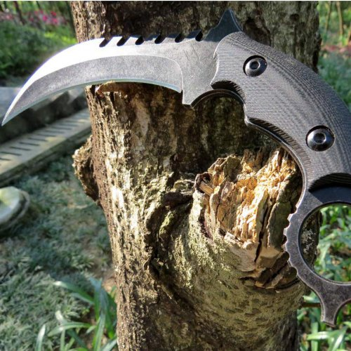 G10 Handle Fixed Blade Knife D2 Steel