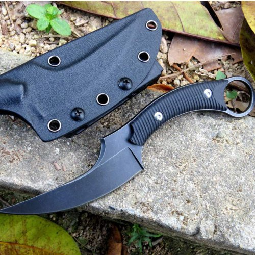 D2 Fixed Blade Tactical Knives 8 Inch