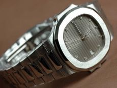 パテックフィリップPatek Philippe Nautilis Jumbo SS Grey Diamonds自動巻き