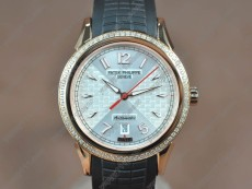 Patek Philippe Watches RG/RU/Diam White dial Swiss Eta 2824-2 Auto