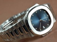 パテックフィリップPatek Philippe Nautilis Jumbo SS Burnt Blue/Diamonds自動巻き