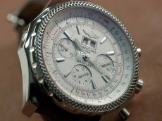 ブライトリングBreitling Bentley 6.75 Big Date Chrono LE White A-7750 Sec@3自動巻き