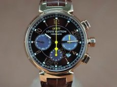 ルイヴィトンLouis Vuitton Tambour Chronograph SS/LE Brown Asia 7750自動巻き