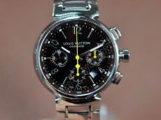 ルイヴィトン Louis Vuitton Tambour Chronograph SS Brown Asia 7750自動巻き