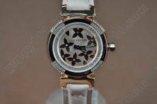 ルイヴィトンLouis Vuitton Tambour Ladies Diamonds RG/RG Dialクオーツ