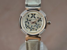 ルイヴィトンLouis Vuitton Tambour Ladies Diamonds RG/LE RG Dialクオーツ
