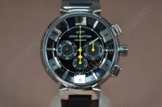 ルイヴィトンLouis Vuitton Tambour 227 Chrono SS/RU Blk A-7750腕時計