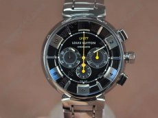 ルイヴィトンLouis Vuitton Tambour 227 Chrono SS/SS Black dial A-7750 Auto自動巻き