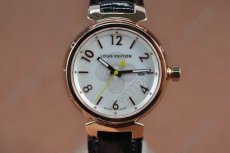 ルイヴィトンLouis Vuitton Tambour RG White Japanクオーツ