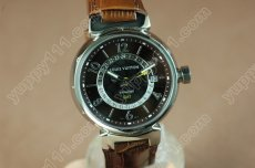 ルイヴィトンLouis Vuitton Tambour GMT SS/LE Brown 2836-2自動巻き