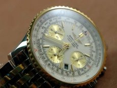 ブライトリングBreitling TT Navitimer White Dial Sticks Working Chronos自動巻き