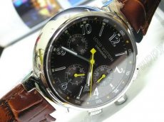 ルイヴィトンLouis Vutton Tambour Chronograph SS/LE Brownz自動巻き