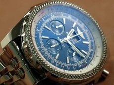ブライトリングBreitling Bentley 6.75 Big Date Chrono SS Blue A-7750 Sec@3自動巻き
