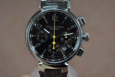 ルイヴィトンLouis Vuitton Tambour Chronograph SS Brown Asian 7750自動巻き