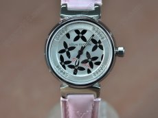 ルイヴィトンLouis Vuitton Tambour Ladies Diamonds SS/LE White Dialクオーツ