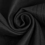 Military Uniform Buttonhole Loop Long Sleeve Shirt