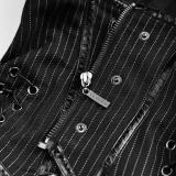 Punk Military Uniform Women's Vest