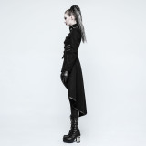 Punk Military Uniform Worsted Women's Long Coat
