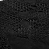 Asymmetric Punk Mesh Stitching Women's Dress