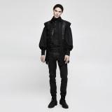 PUNK Men's Black PU Leather Vest