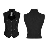 Punk Military Uniform Sleeveless Women's Vest