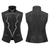 Gothic Bat Collar Dress Men's Vest