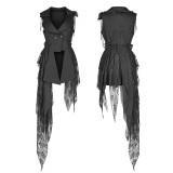 Gothic Dark Asymmetric Women's Vest