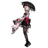Lolita Short Sleeve Knee-Length Cute Kimono Dress For Girls