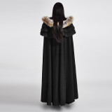 Gothic Wool Collar Women's Long Cloak