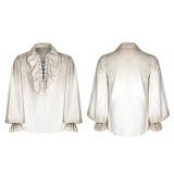 Steampunk Long Sleeve  Loose men's Shirt