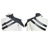 Punk One-shoulder standard collar leather Armor