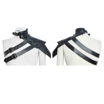 Punk One-shoulder standard collar leather Armor