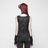 Punk Collar Cover Sleeveless Women's Vest