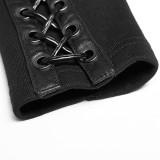 Punk Hooded Knit Women's Jacket