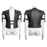 Punk Armor Warrior short Men's jacket