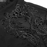 Gothic Gorgeous Lace Slim-fitting Women's Shirt