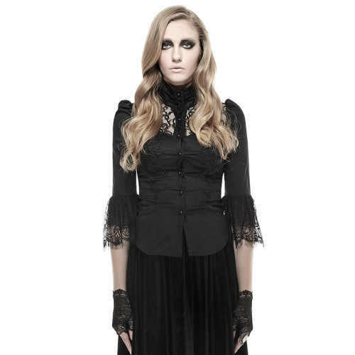 Gothic IRIS Lace Women's Shirt