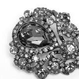 Gothic Glass Brooch