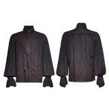 Steampunk Tie Men's retro linen Shirt