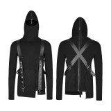 Punk Thread knitted Hooded Men's Sweater