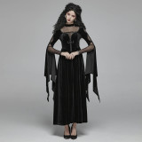 Gothic Double Layer Sleeve Women's Dress