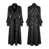 Gothic Gorgeous  inelastic jacquard fabric women's Coat