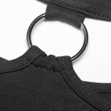 Punk Over Hip Long Sleeve Women's Dress