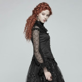 Steam punk Women's Lace Shirt