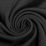 Punk Hollow-out Long Sleeve Women's T-shirt Black