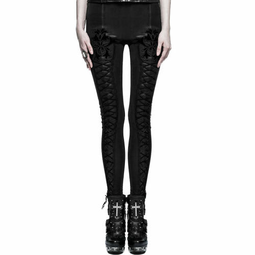 Gothic Tie Rope Thickened Women's Leggings Pant