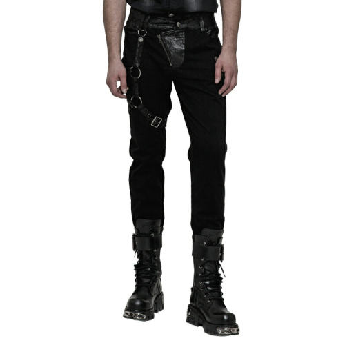Steampunk dark stripe Men's Trousers