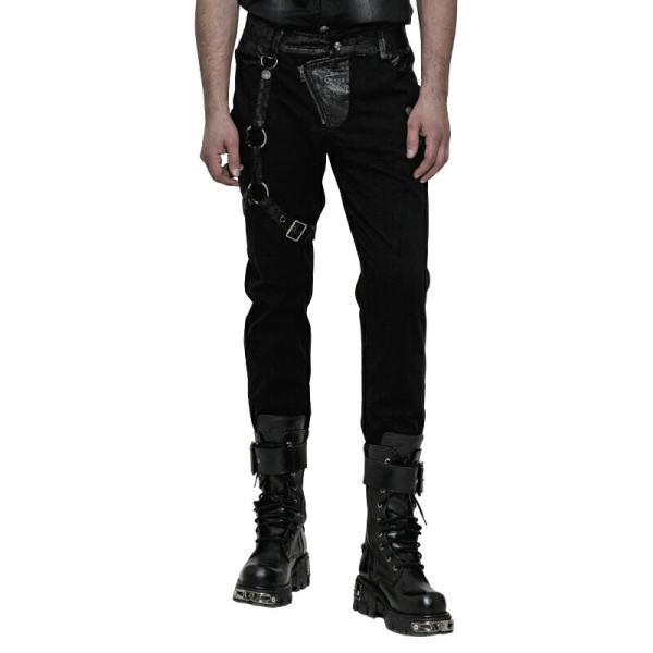 Steampunk dark stripe Men's Trousers