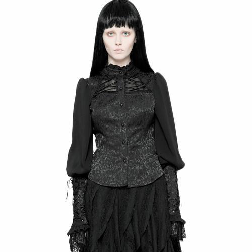 Gothic Jacquard women's Shirt